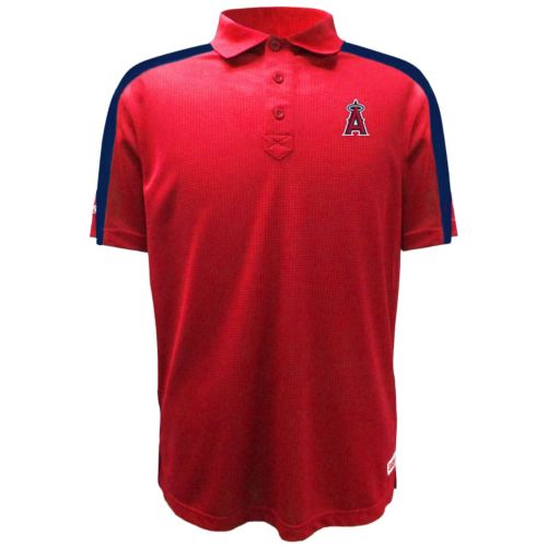Men's Stitches Los Angeles Angels of Anaheim Waffle Polo