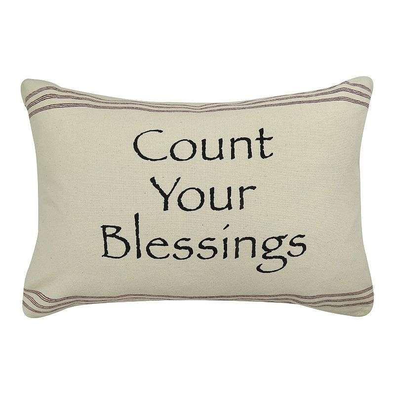 Park B. Smith ''Count Your Blessings'' Throw Pillow