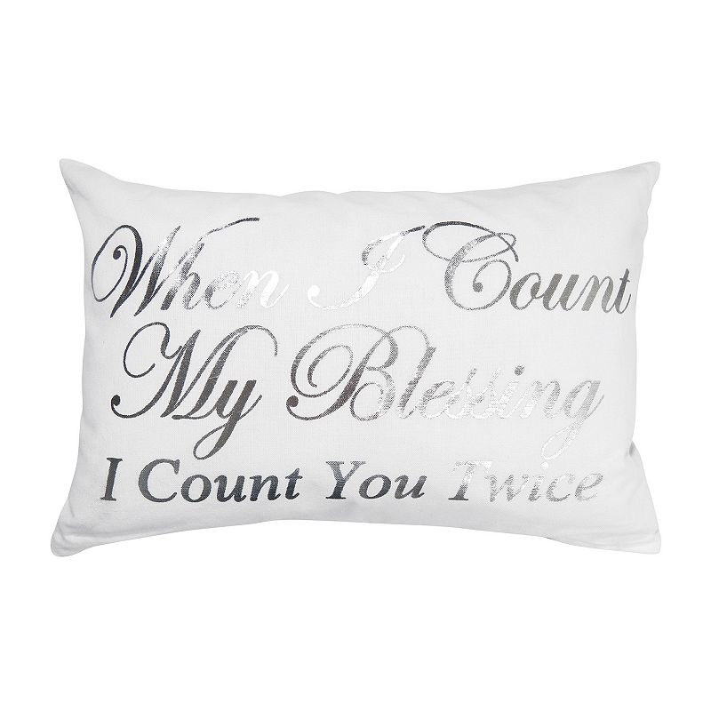 Park B. Smith ''Count You Twice'' Throw Pillow