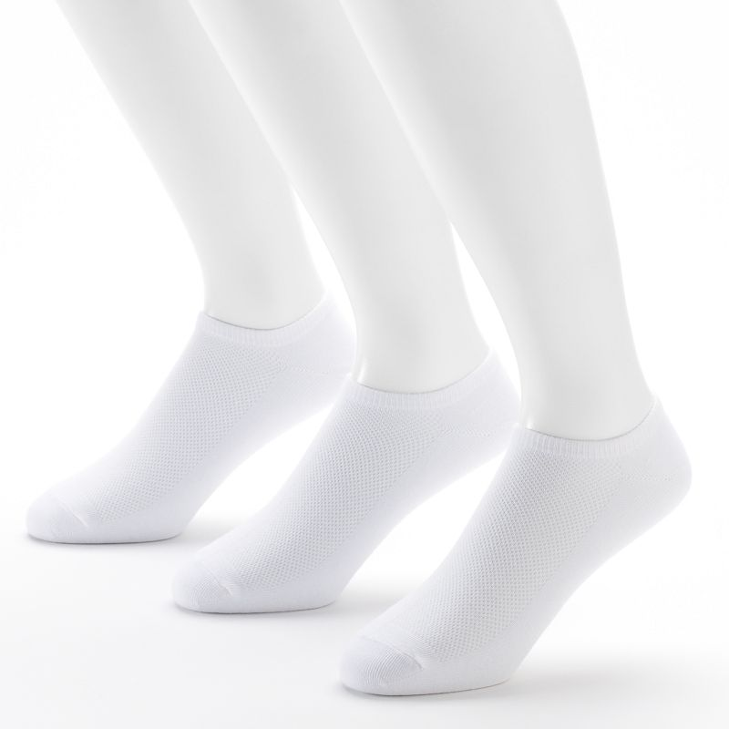 Men's Tek Gear® 3-pack Cushioned No-Show Performance Socks with Cinch Sack
