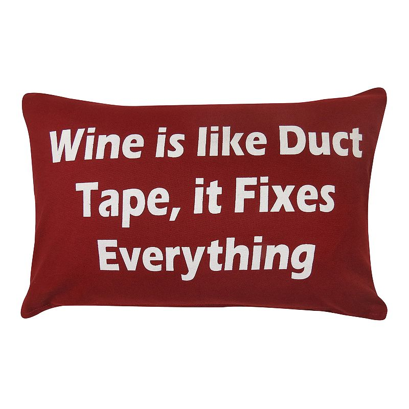 Park B. Smith ''Wine Fixes Everything'' Throw Pillow