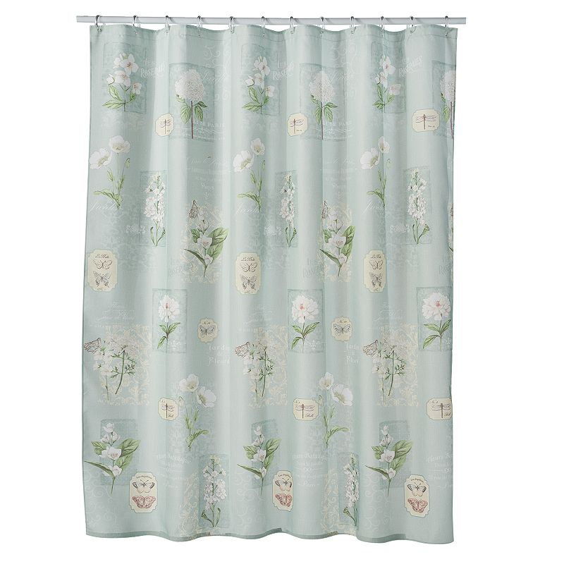 Georgiana Floral Fabric Shower Curtain