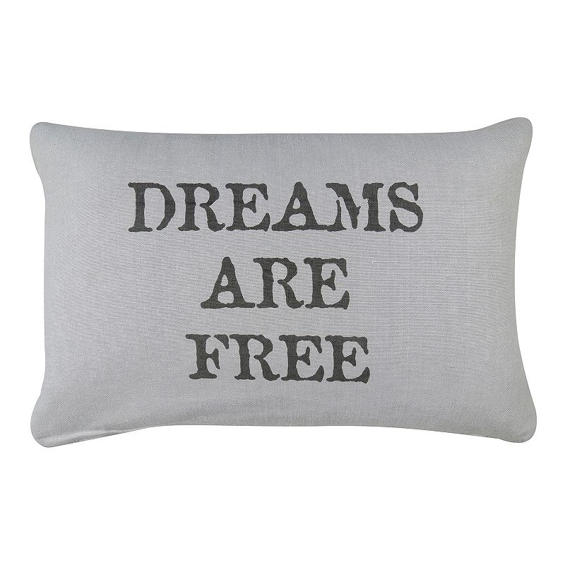 Park B. Smith ''Dreams Are Free'' Gray Throw Pillow