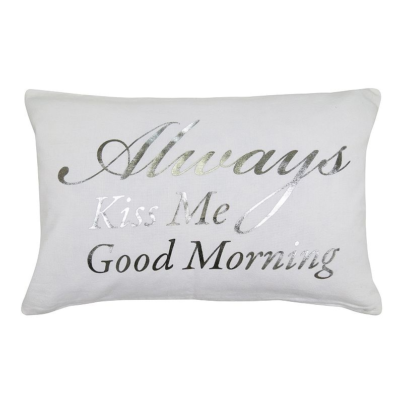 Park B. Smith ''Always Kiss Me Good Morning'' Throw Pillow