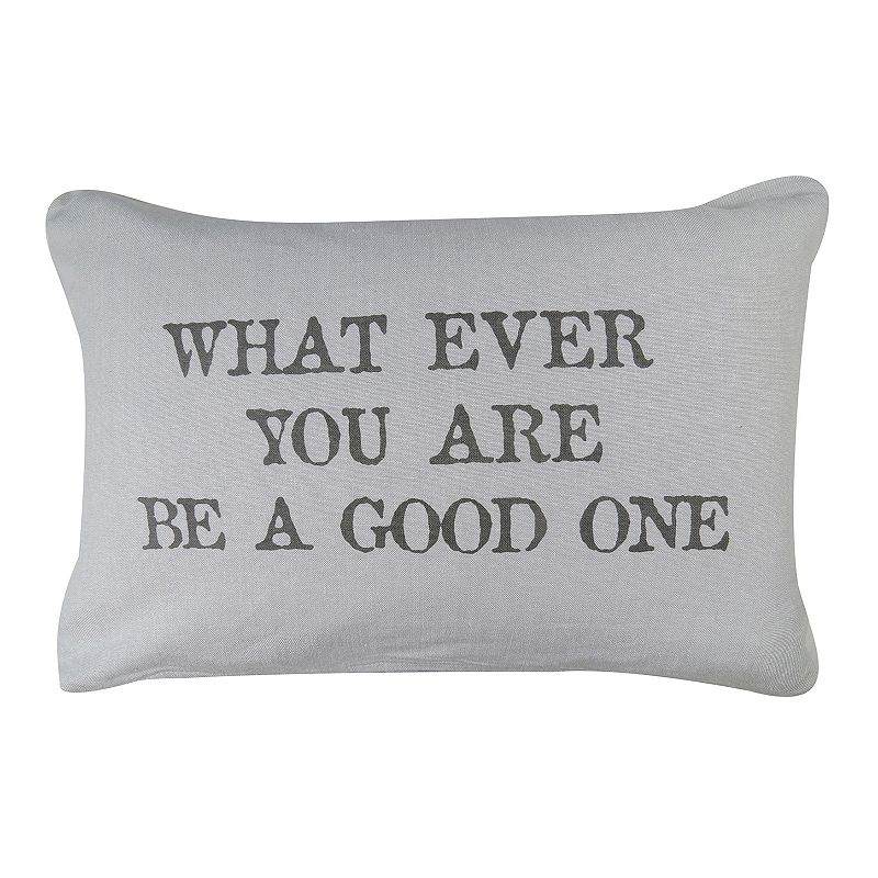 Park B. Smith ''Be a Good One'' Throw Pillow