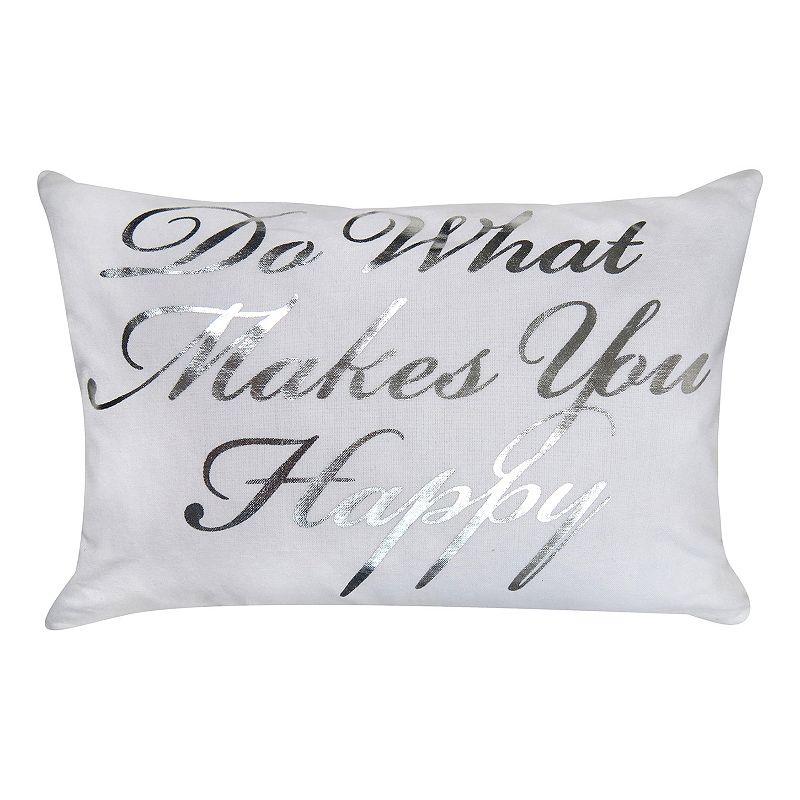 Park B. Smith ''What Makes You Happy'' Throw Pillow