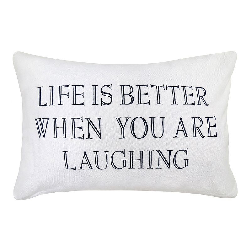 Park B. Smith ''Life Is Better Laughing'' Throw Pillow