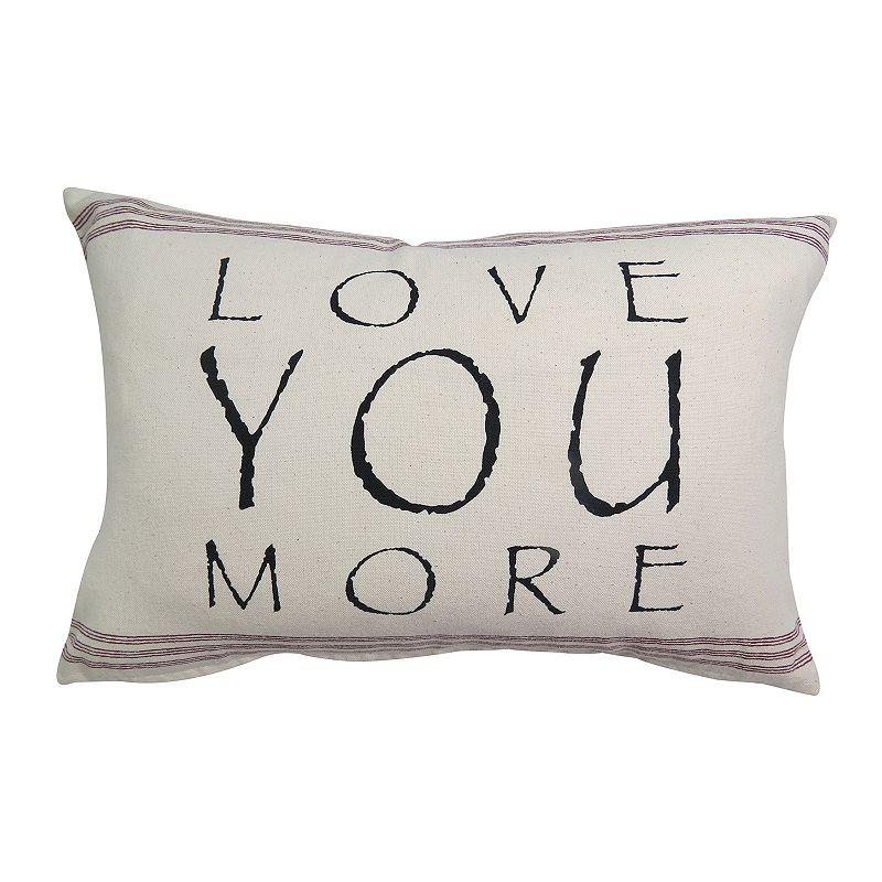 Park B. Smith ''Love You More'' Throw Pillow