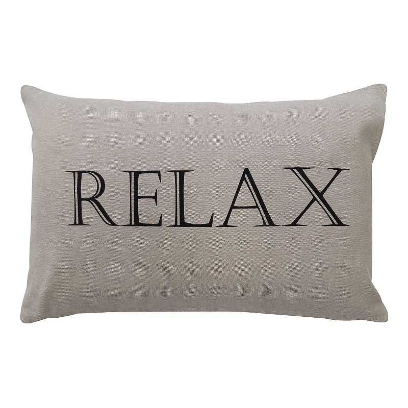 Park B. Smith ''Relax'' Throw Pillow