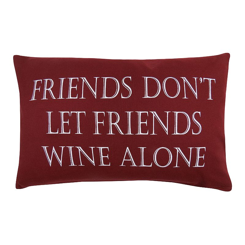 Park B. Smith ''Friends Wine'' Throw Pillow