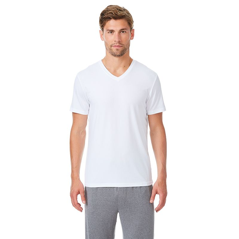 Men's CoolKeep Solid Performance V-Neck Tee