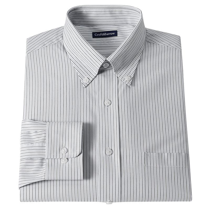 Men's Croft & Barrow® Fitted Striped Dress Shirt