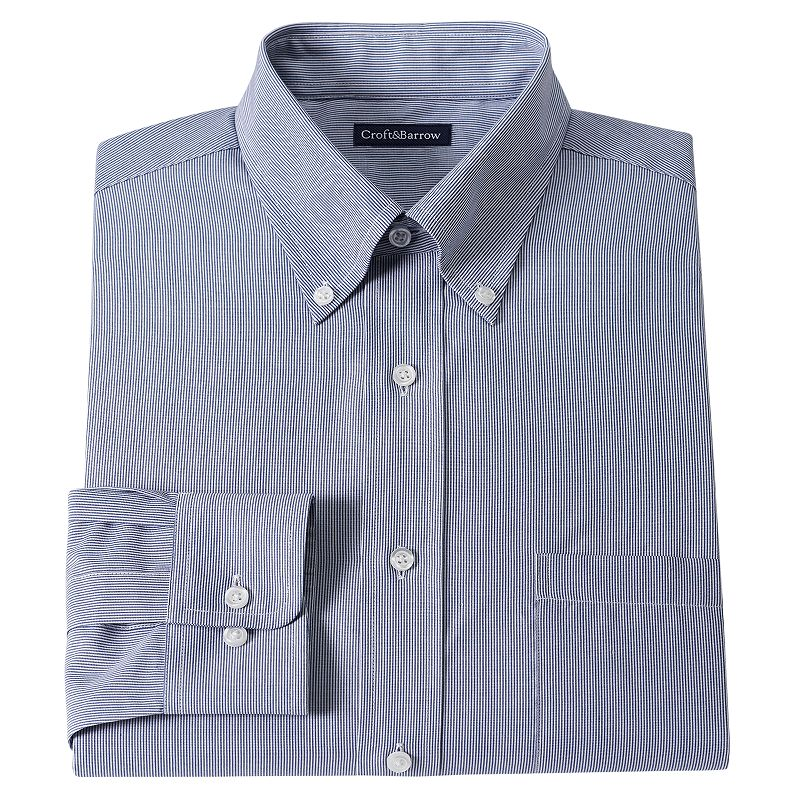 Men's Croft & Barrow® Fitted Pinstripe Dress Shirt