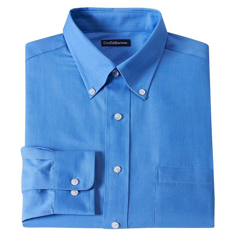Men's Croft & Barrow® Fitted Solid Twill Dress Shirt