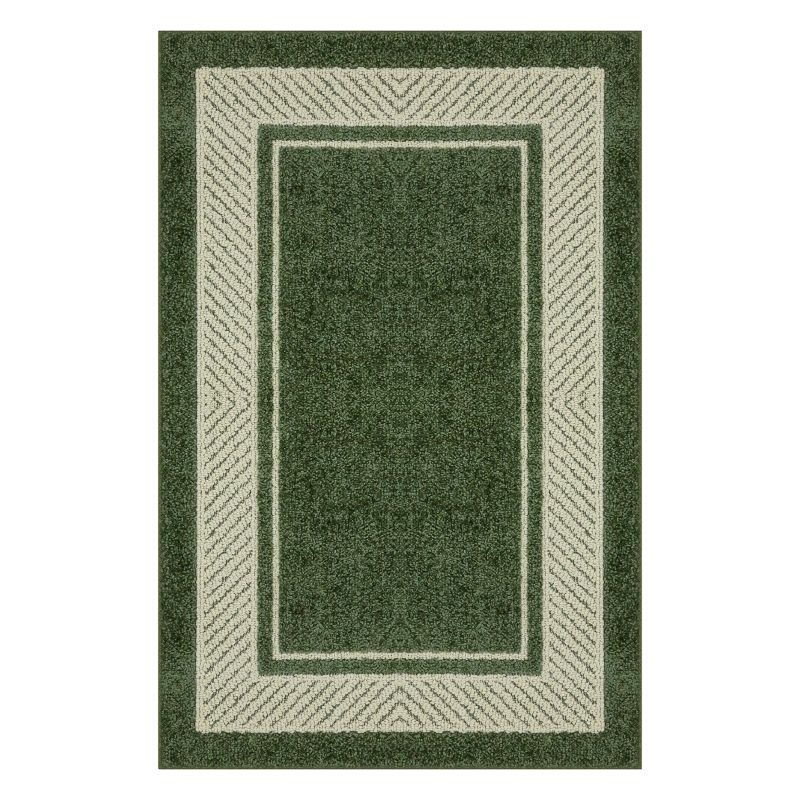 Maples Estate Border Rug, Green thumbnail