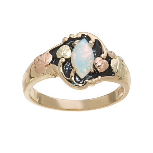 Black Hills Gold Tri-Tone Opal Ring