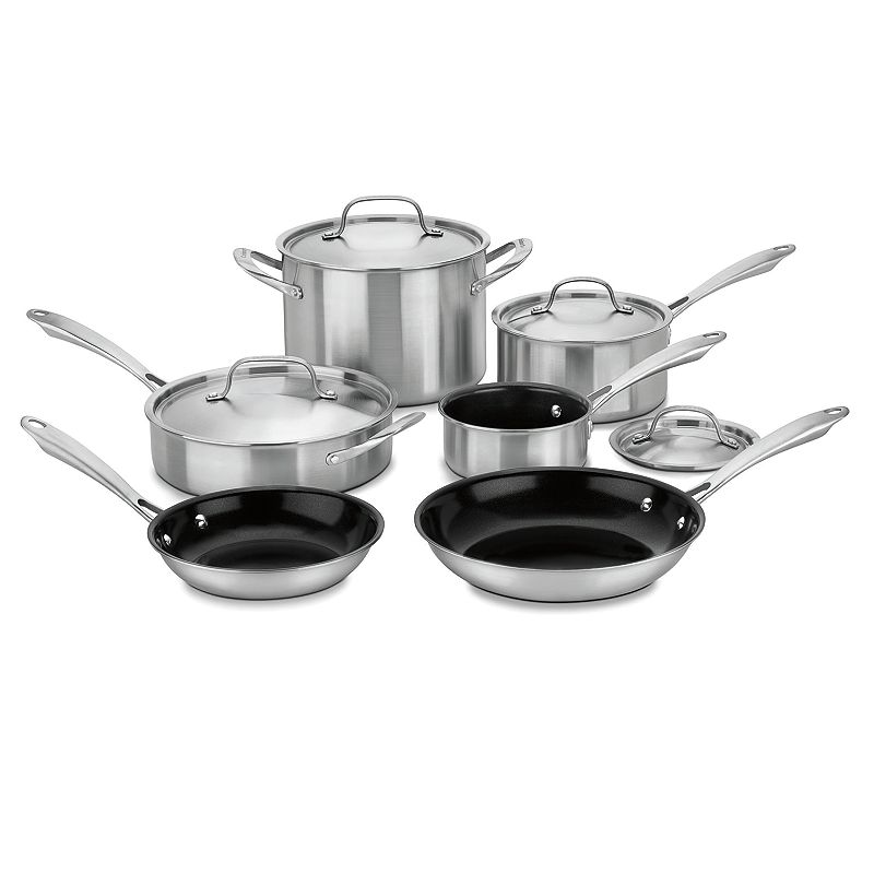 Cuisinart 10-pc. Green Gourmet Tri-ply Stainless Steel Cookware Set