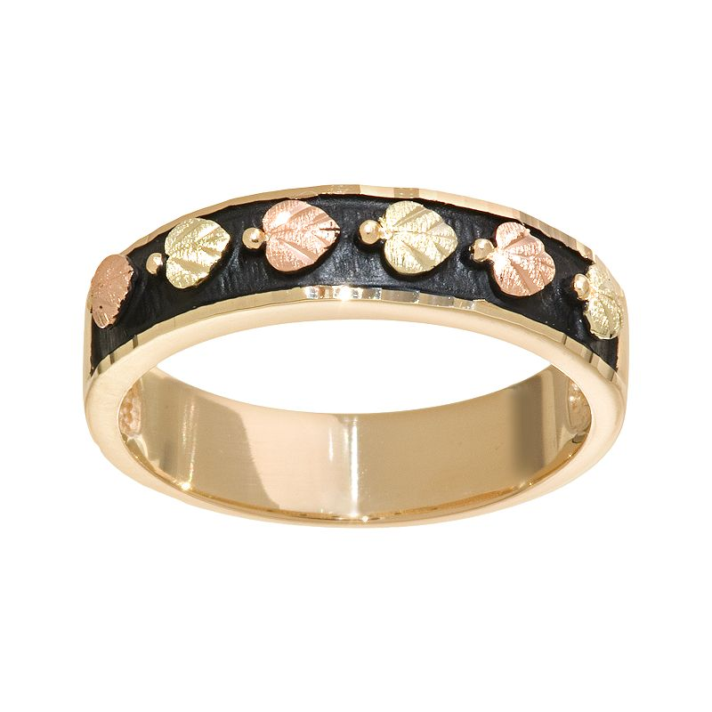 Black Hills Gold Tri-Tone Leaf Ring