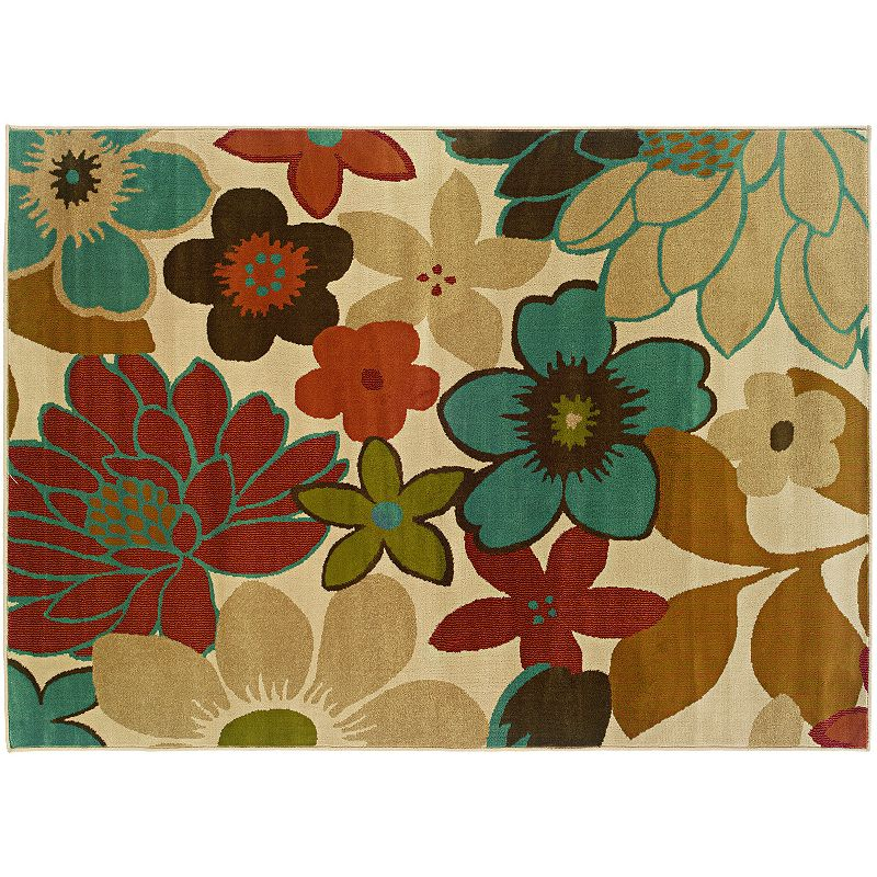 StyleHaven Elliott Ivory Floral Rug