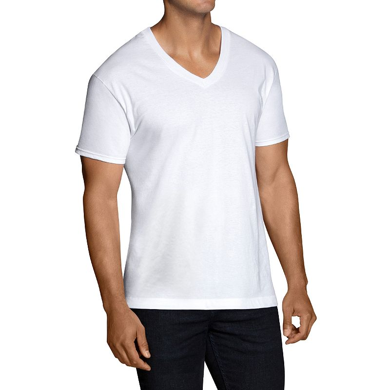 Men's Fruit of the Loom 6-pack V-neck Tees