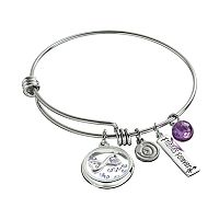 love this life Crystal & Amethyst Stainless Steel