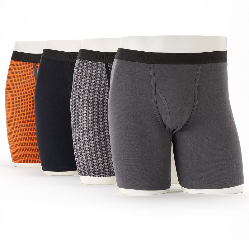 Men's Fruit of the Loom 4-pack Printed Signature Everyday Active Boxer Briefs