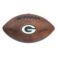 Wilson Green Bay Packers Throwback Football