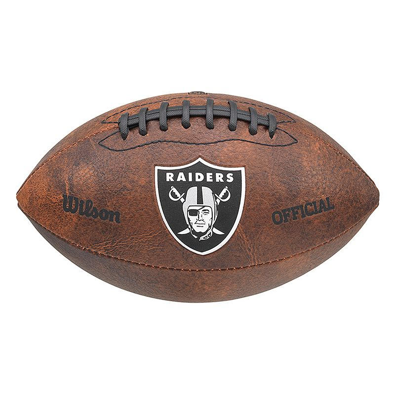 Wilson Oakland Raiders Throwback Football