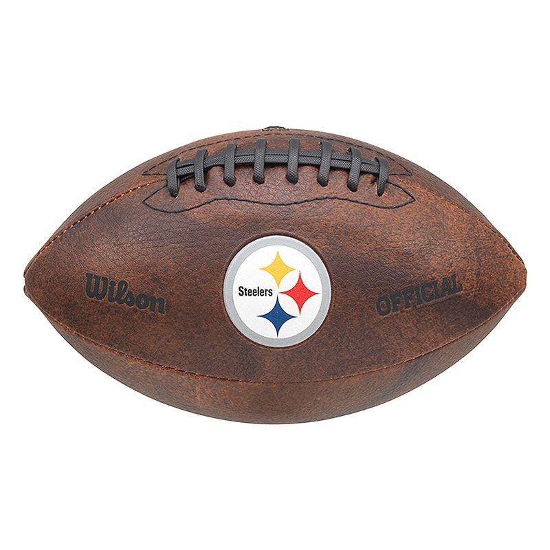 Wilson Pittsburgh Steelers Throwback Football