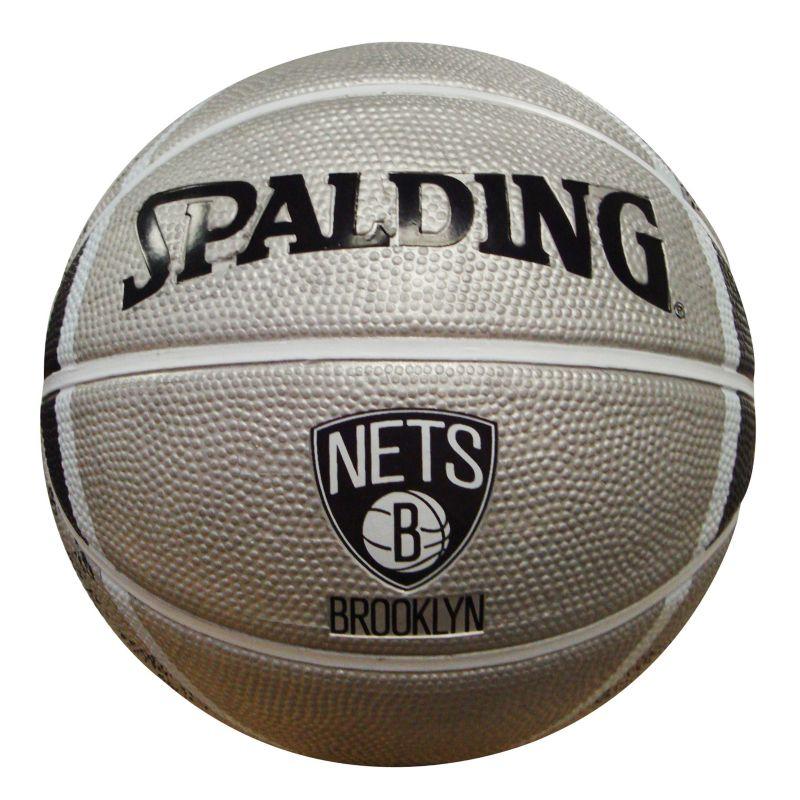 Brooklyn Nets Mini Basketball, Grey thumbnail