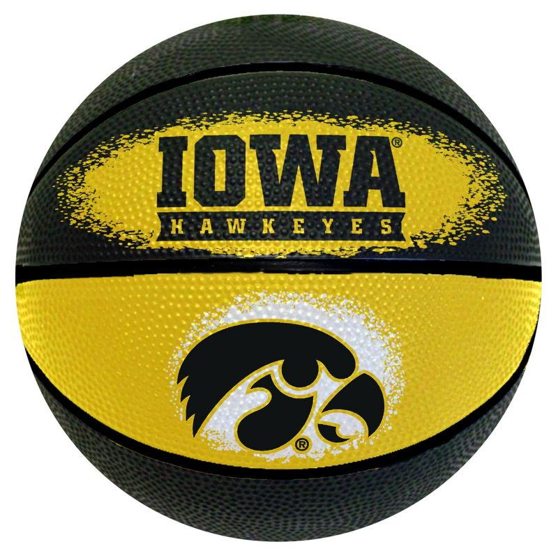 Iowa Hawkeyes Mini Basketball, Multicolor thumbnail