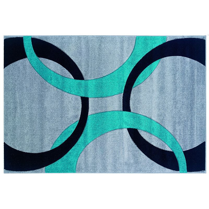 Linon Home Decor Corfu Collection Circles Rug