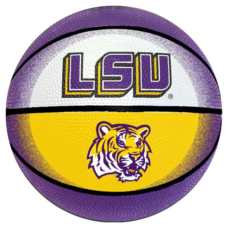 LSU Tigers Mini Basketball, Multicolor thumbnail