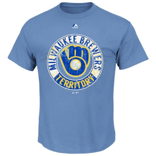 Big & Tall Majestic Milwaukee Brewers Cooperstown Generating Wins Tee
