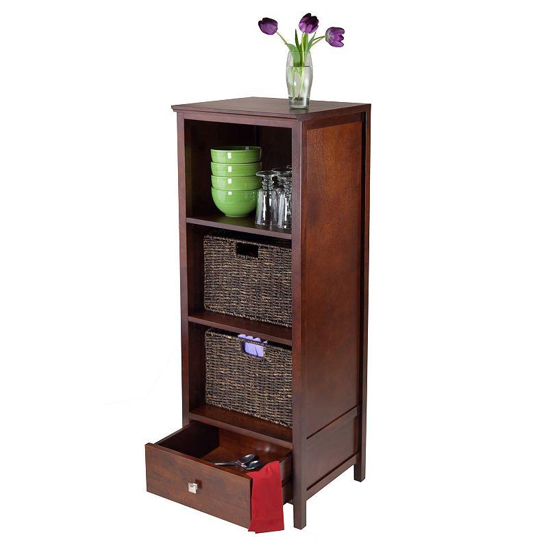 Winsome Brooke 3-piece Storage Cabinet, Drawer and Basket Set