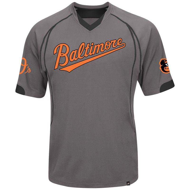 Big & Tall Majestic Baltimore Orioles Lead Hitter V-Neck Raglan Top