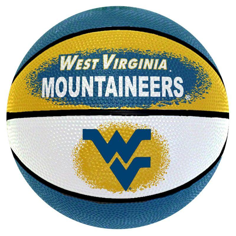 West Virginia Mountaineers Mini Basketball, Multicolor thumbnail