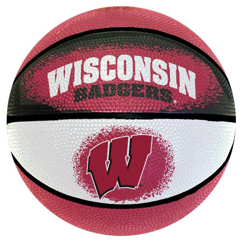 Wisconsin Badgers Mini Basketball, Multicolor thumbnail