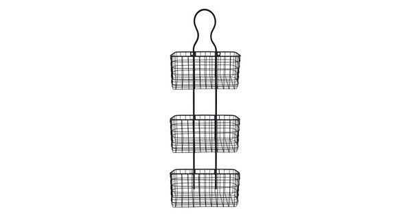 Wire Basket 3-Tier Metal Wall Decor
