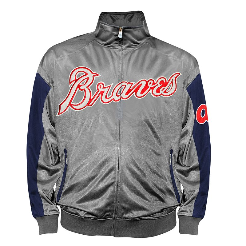 Big & Tall Atlanta Braves Tricot Track Jacket