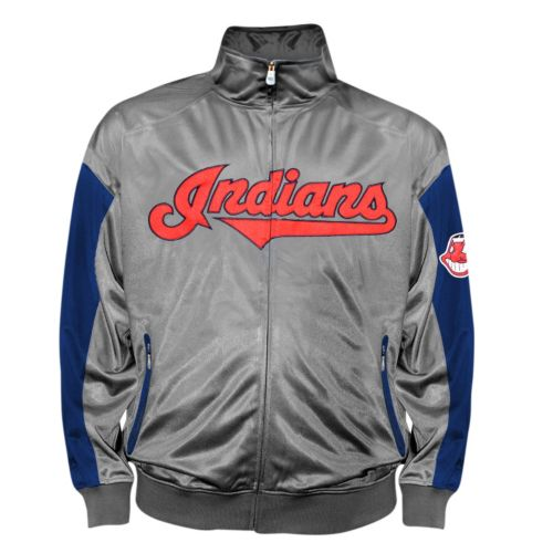 Big & Tall Cleveland Indians Tricot Track Jacket