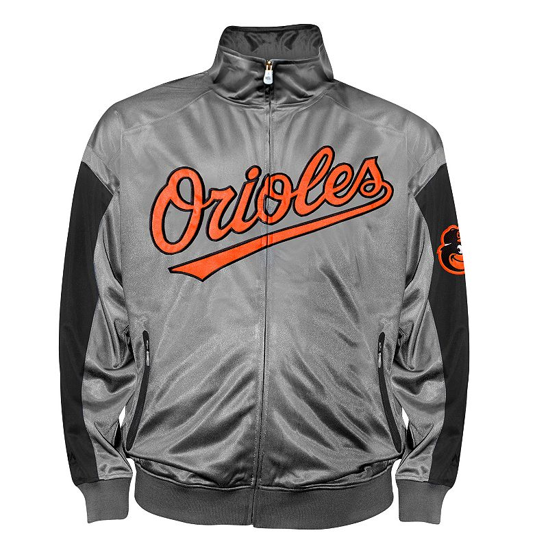 Big & Tall Baltimore Orioles Charcoal Tricot Track Jacket