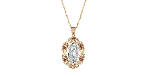 Virgen De Guadalupe Gold Necklace
