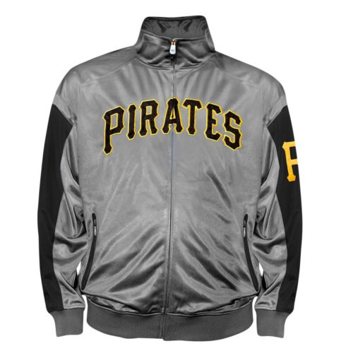 Big & Tall Pittsburgh Pirates Charcoal Tricot Track Jacket