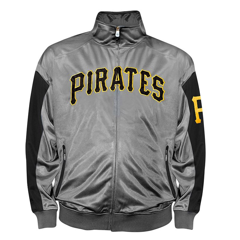 Big & Tall Pittsburgh Pirates Charcoal Tricot Track Jacket
