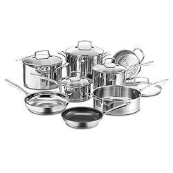 Cuisinart 13-Piece Stainless Steel Professional Series Cookware Set + $30 Kohls Cash