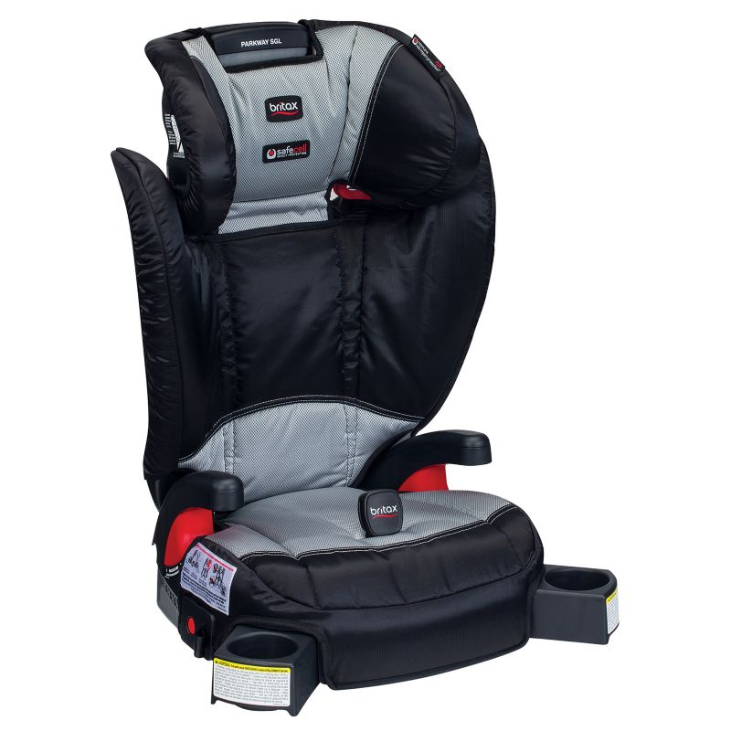Britax Parkway SGL G1.1 Belt-Positioning Booster Car Seat, Silver