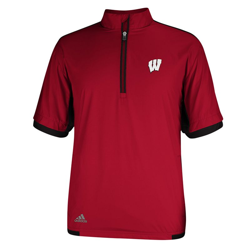 Men's adidas Wisconsin Badgers Stretch climaproof Windshirt