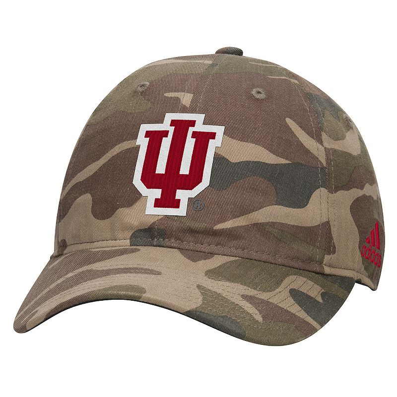 Adult adidas Indiana Hoosiers Camouflage Adjustable Slouch Cap