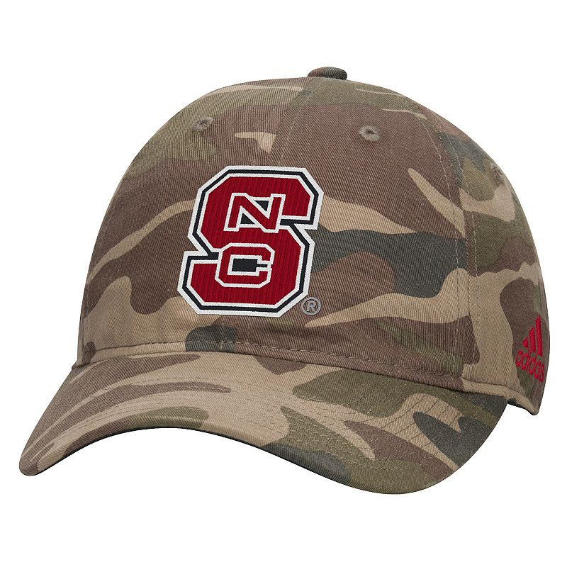 Adult adidas North Carolina State Wolfpack Camouflage Adjustable Slouch Cap